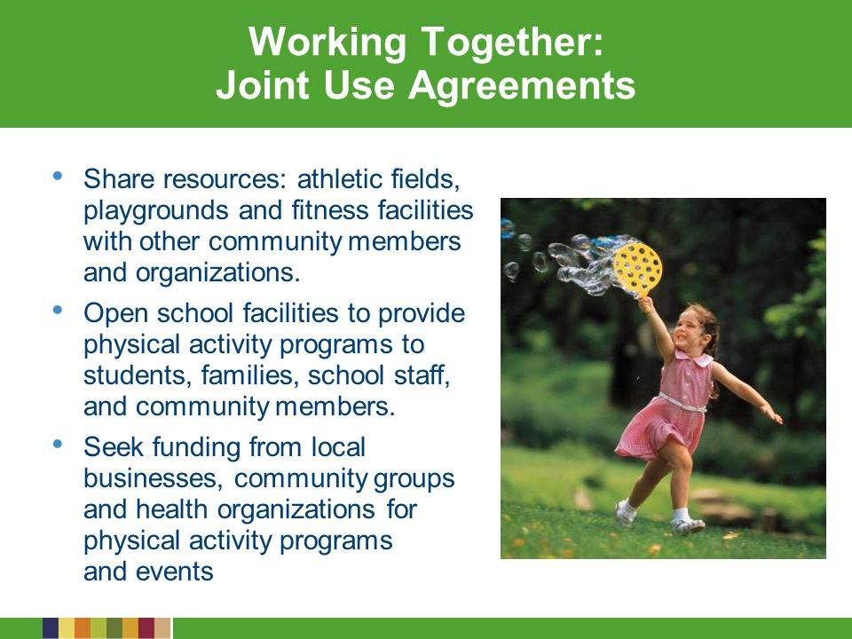 Working Together: Joint Use Agreements