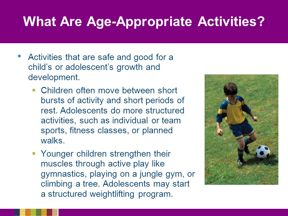 What Are Age-Appropriate Activities