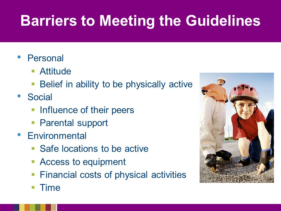 Barriers to Meeting the Guidelines