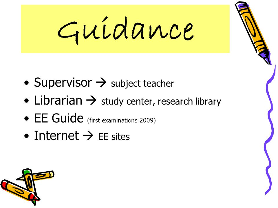 Guidance Supervisor  subject teacher
