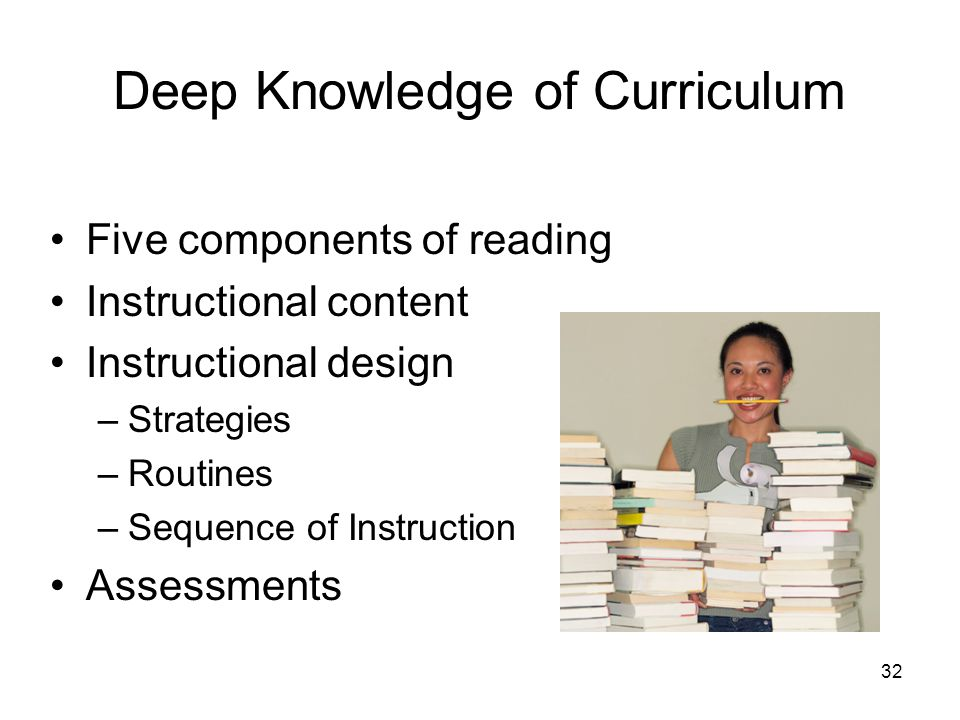 Deep Knowledge of Curriculum