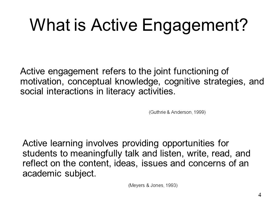 What is Active Engagement
