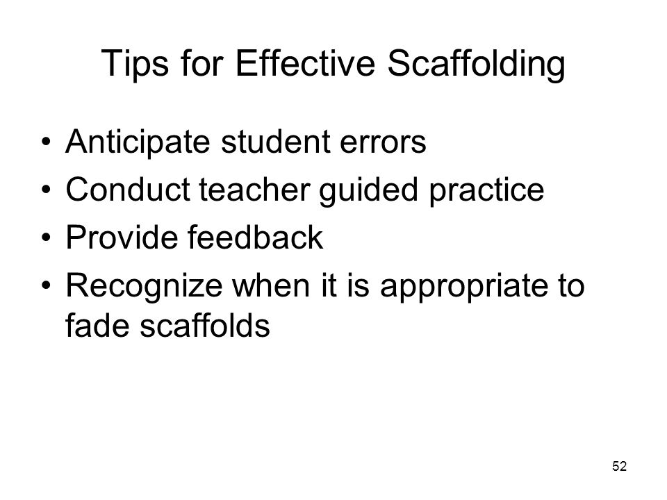 Tips for Effective Scaffolding