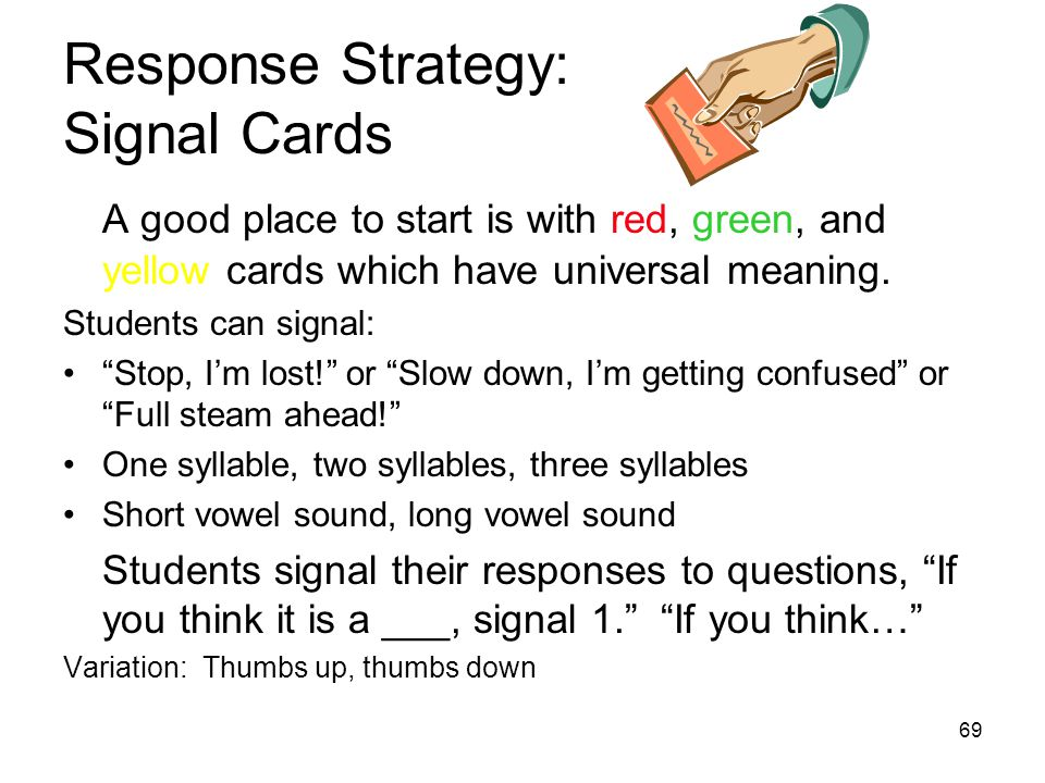 Response Strategy: Signal Cards