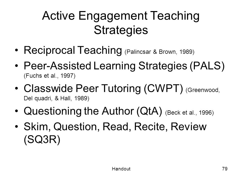 Active Engagement Teaching Strategies