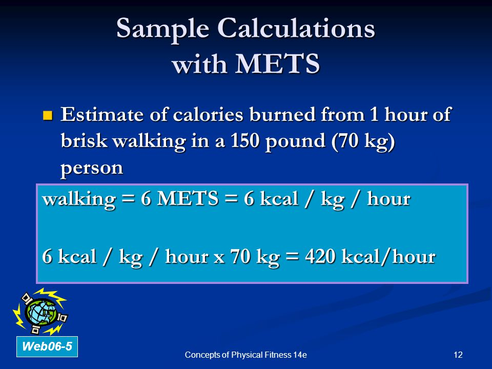 Sample Calculations with METS