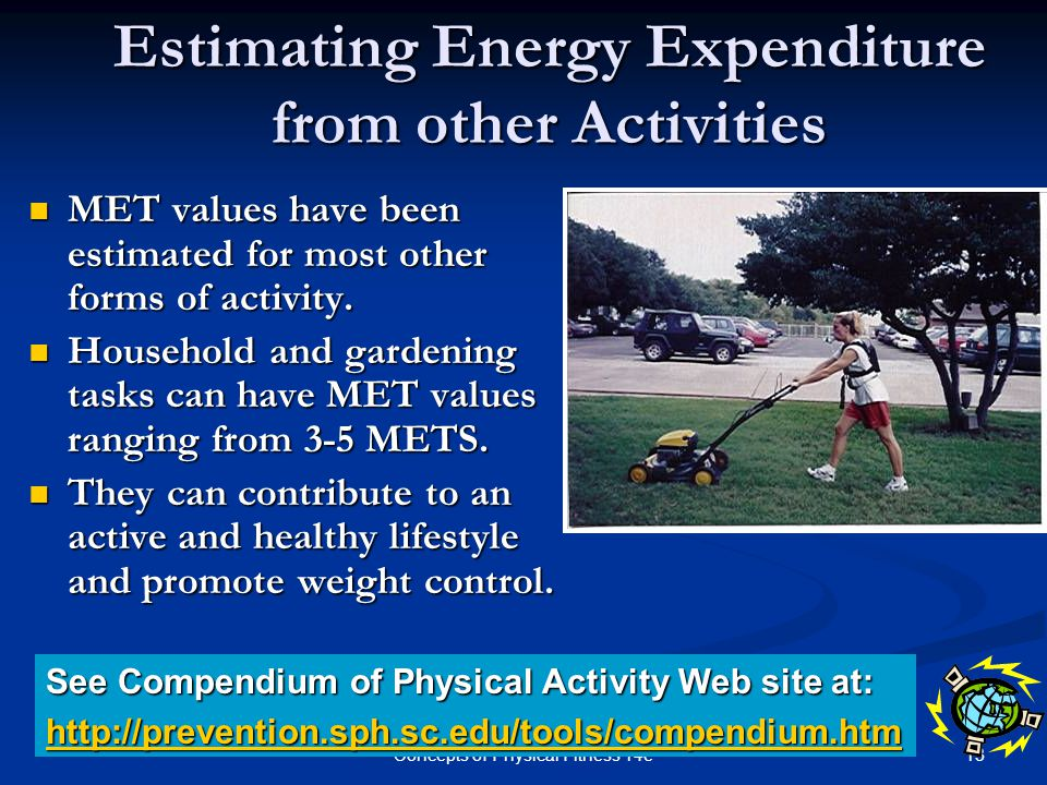 Estimating Energy Expenditure from other Activities