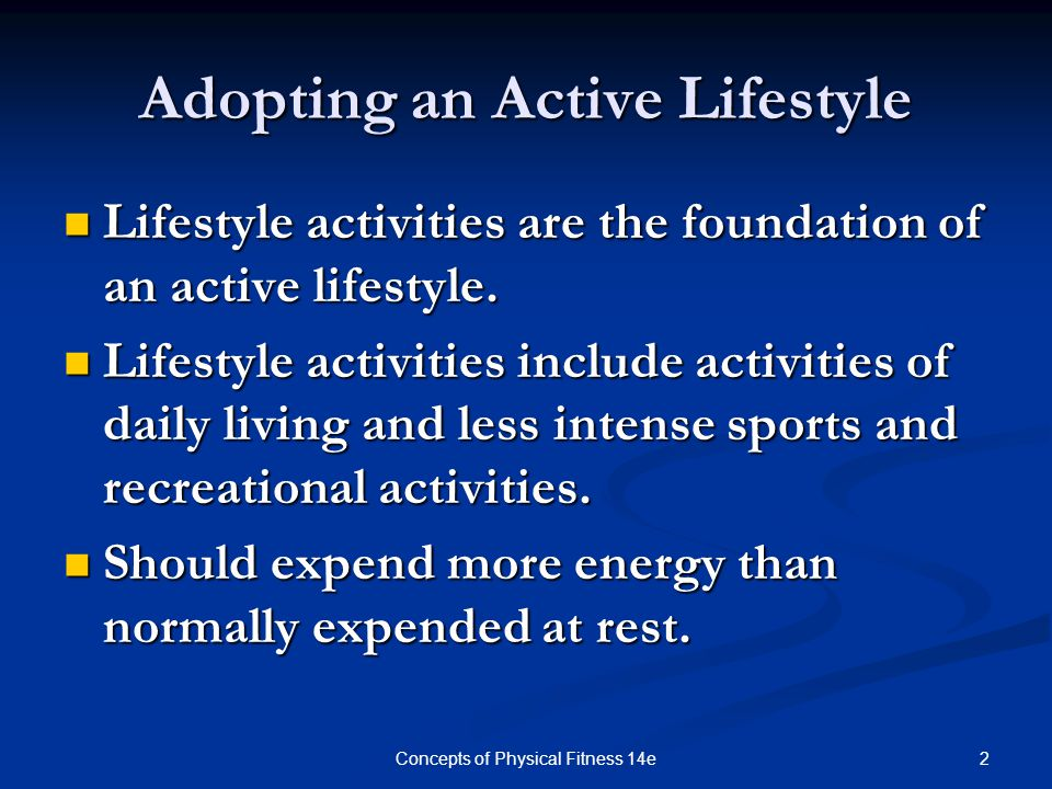 Adopting an Active Lifestyle