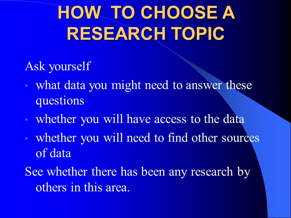 choosing sources research paper