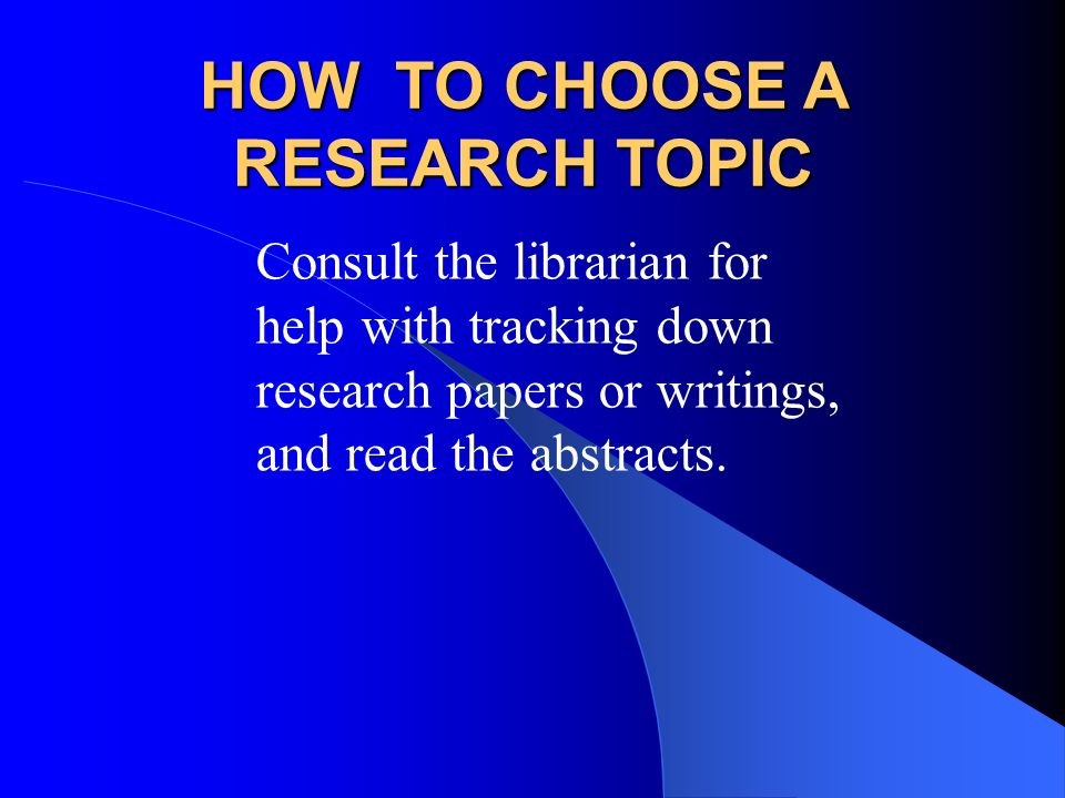 choosing a topic and the research Choosing your research topic look for ideas explore test the topic scope  the topic start by brainstorming some potential topics to.