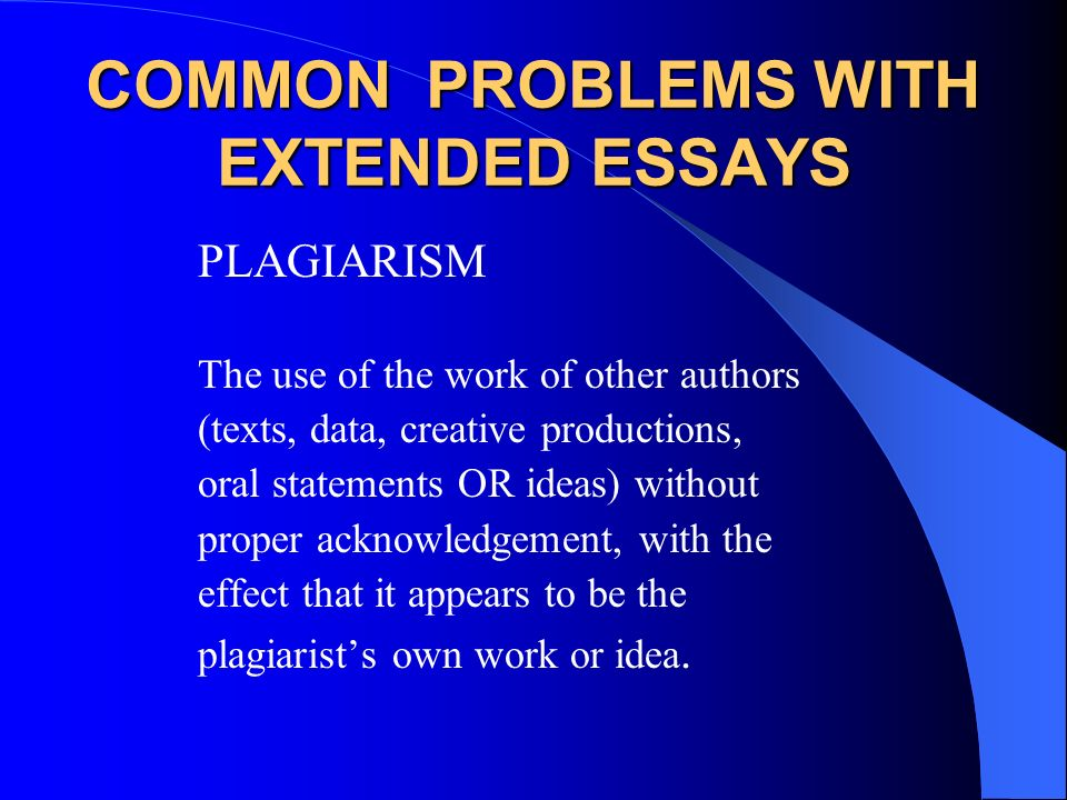 common problems with essays