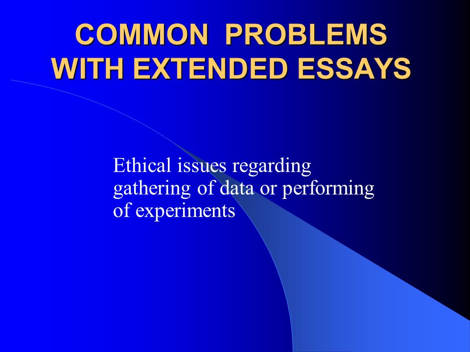 common ethical issues essays This paper summarises the discussions at the malaysian institute of integrity and ethics is a very broad area.