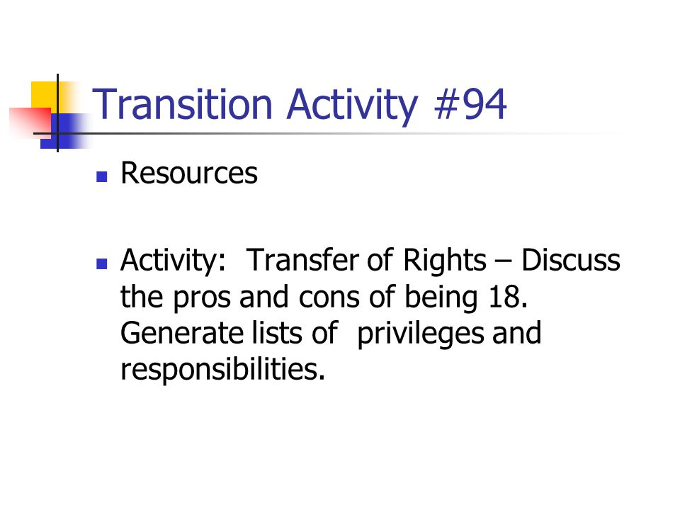 Transition Activity #94 Resources