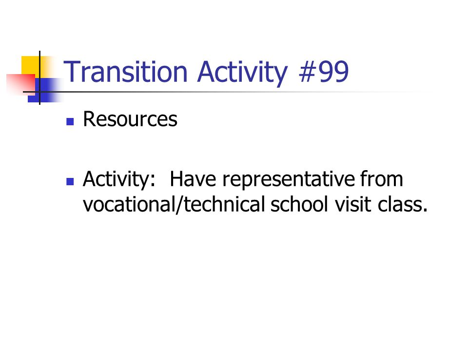 Transition Activity #99 Resources