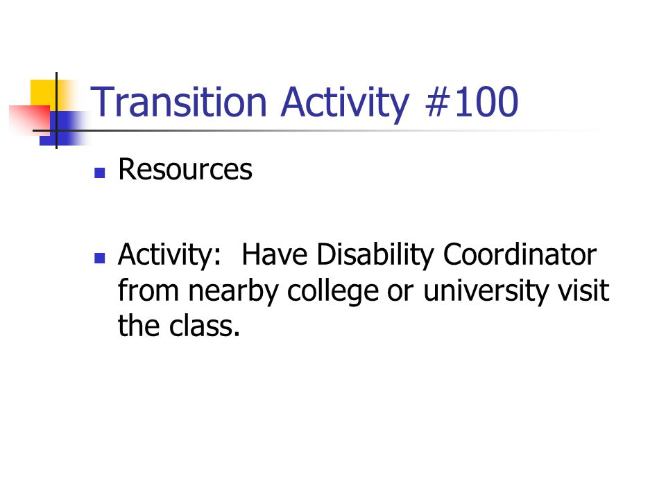 Transition Activity #100 Resources