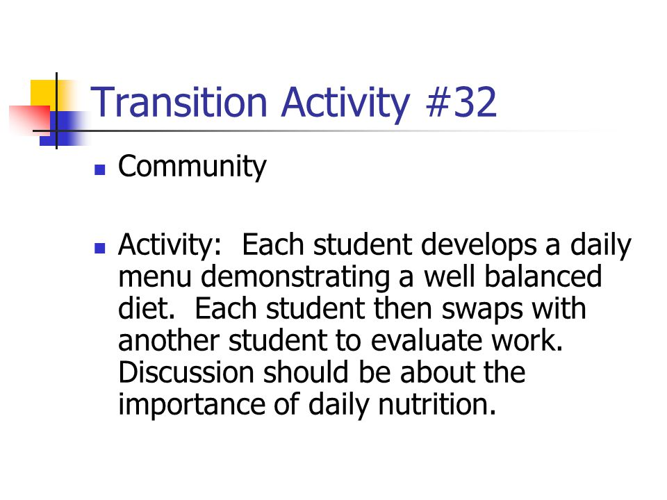 Transition Activity #32 Community
