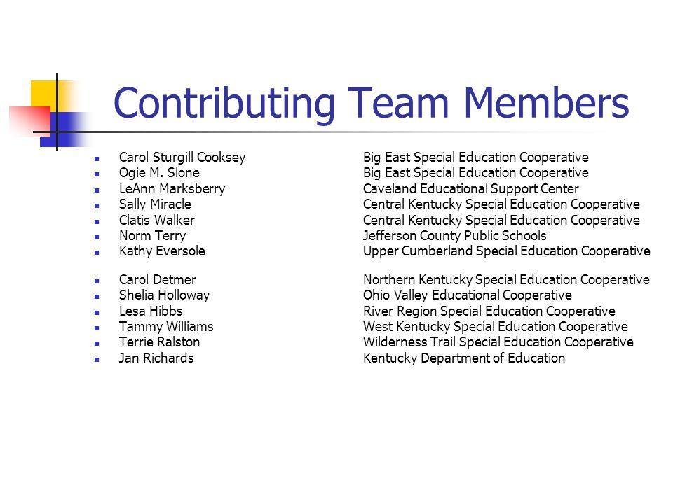 Contributing Team Members