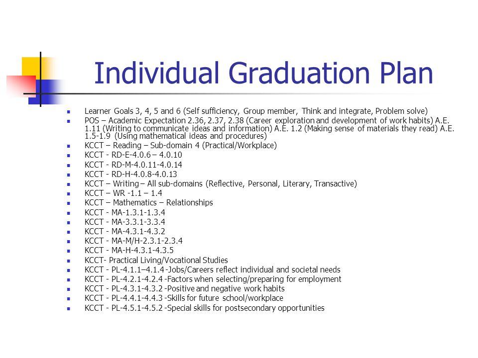Individual Graduation Plan