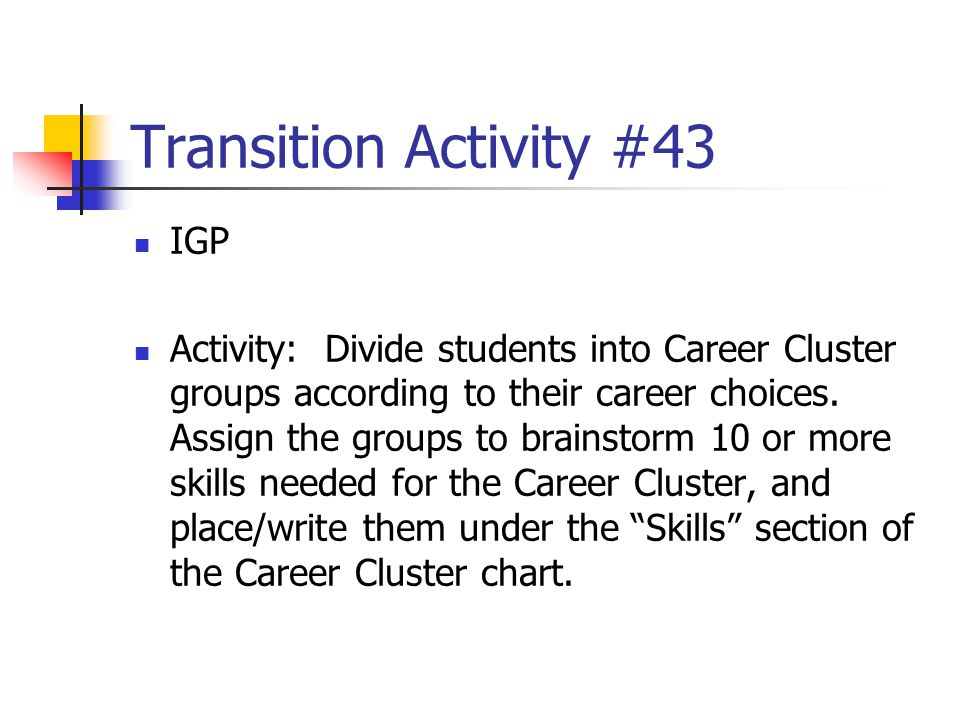 Transition Activity #43 IGP