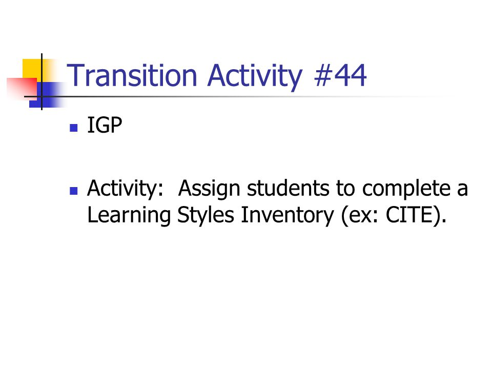 Transition Activity #44 IGP
