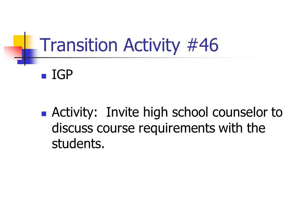 Transition Activity #46 IGP