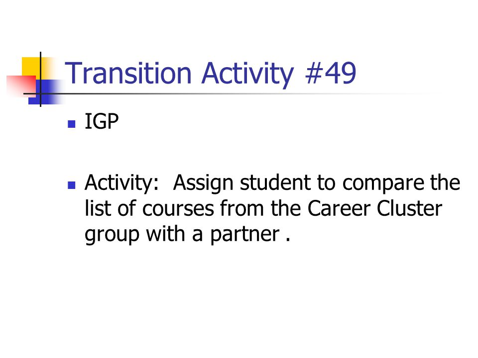 Transition Activity #49 IGP