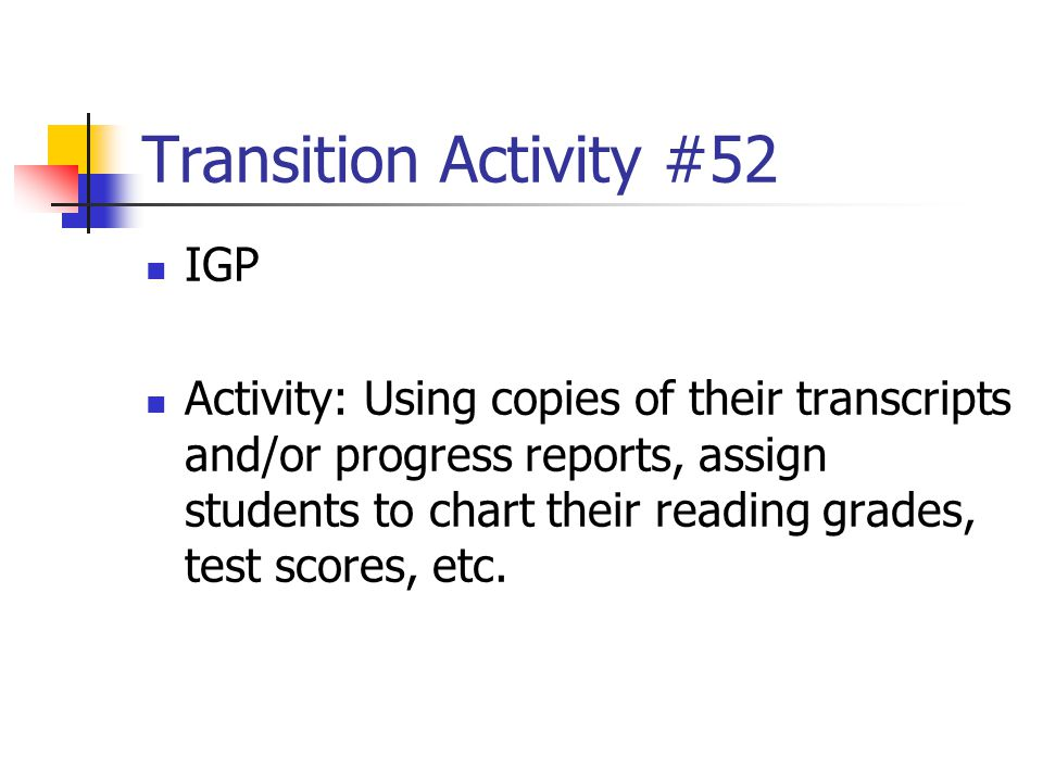 Transition Activity #52 IGP