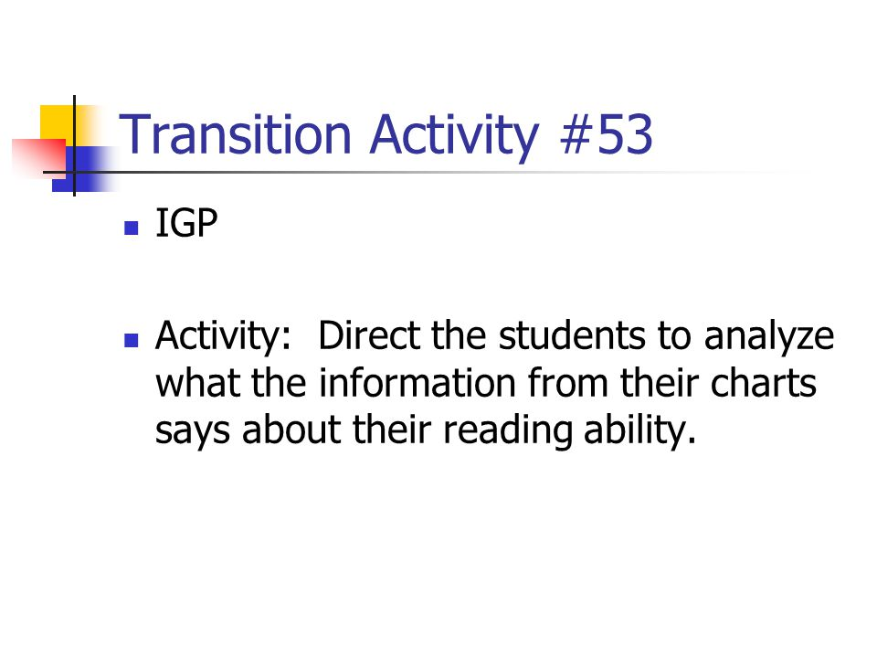 Transition Activity #53 IGP