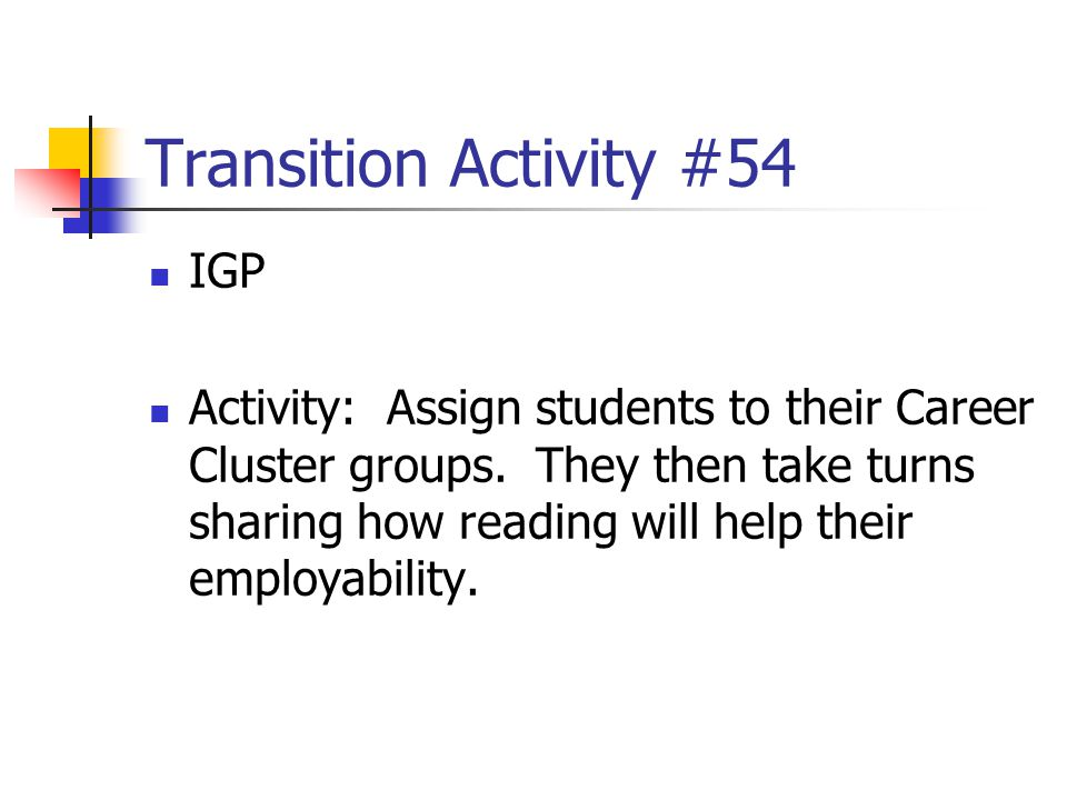 Transition Activity #54 IGP
