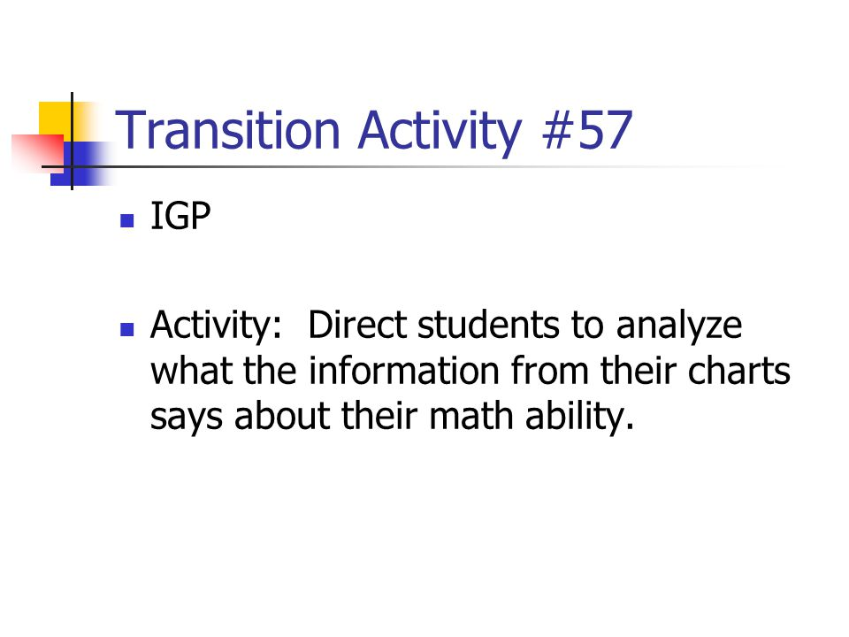 Transition Activity #57 IGP