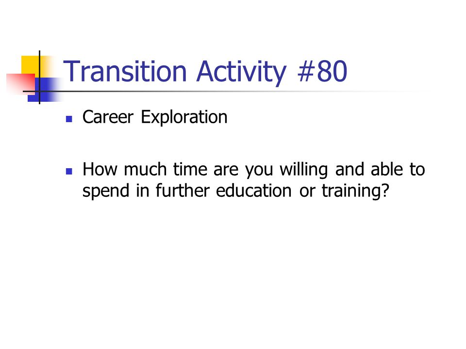 Transition Activity #80 Career Exploration