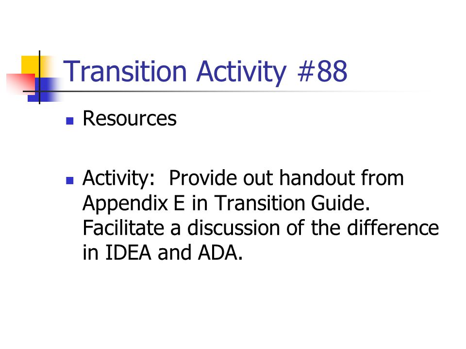 Transition Activity #88 Resources