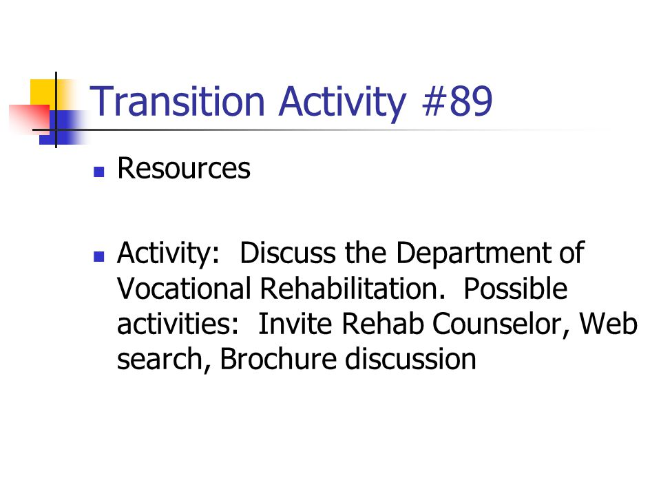 Transition Activity #89 Resources