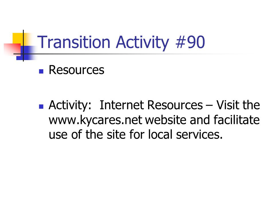 Transition Activity #90 Resources