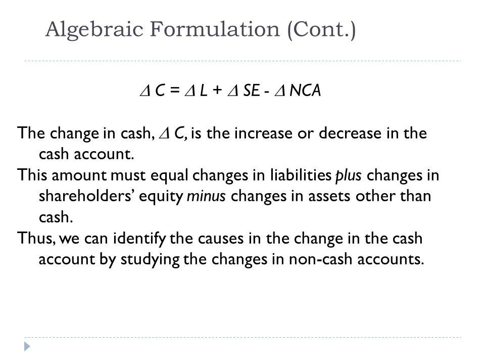 Algebraic Formulation (Cont.)