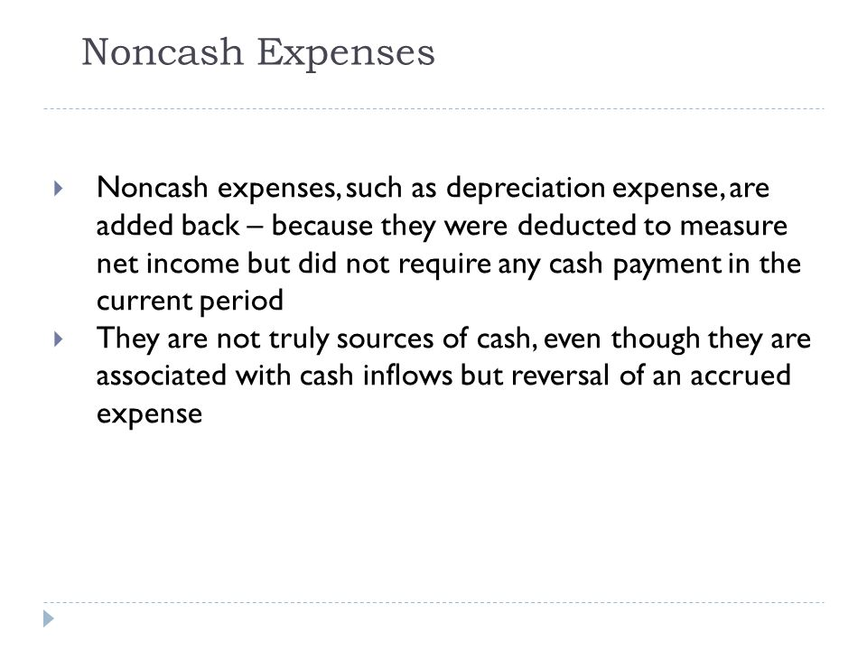 Noncash Expenses