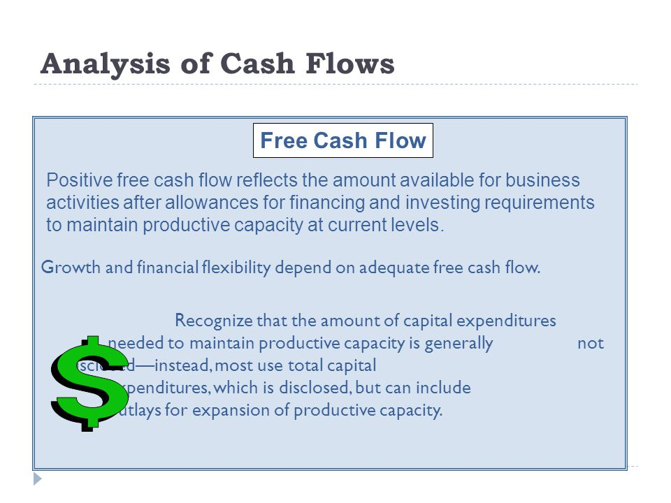 Analysis of Cash Flows Free Cash Flow