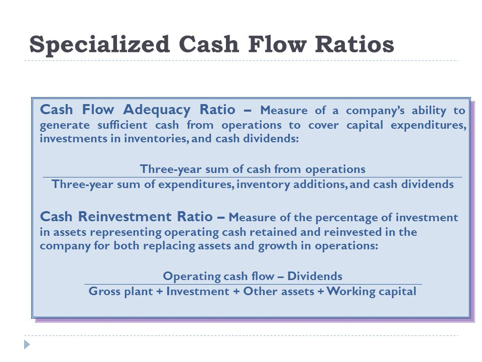 Specialized Cash Flow Ratios