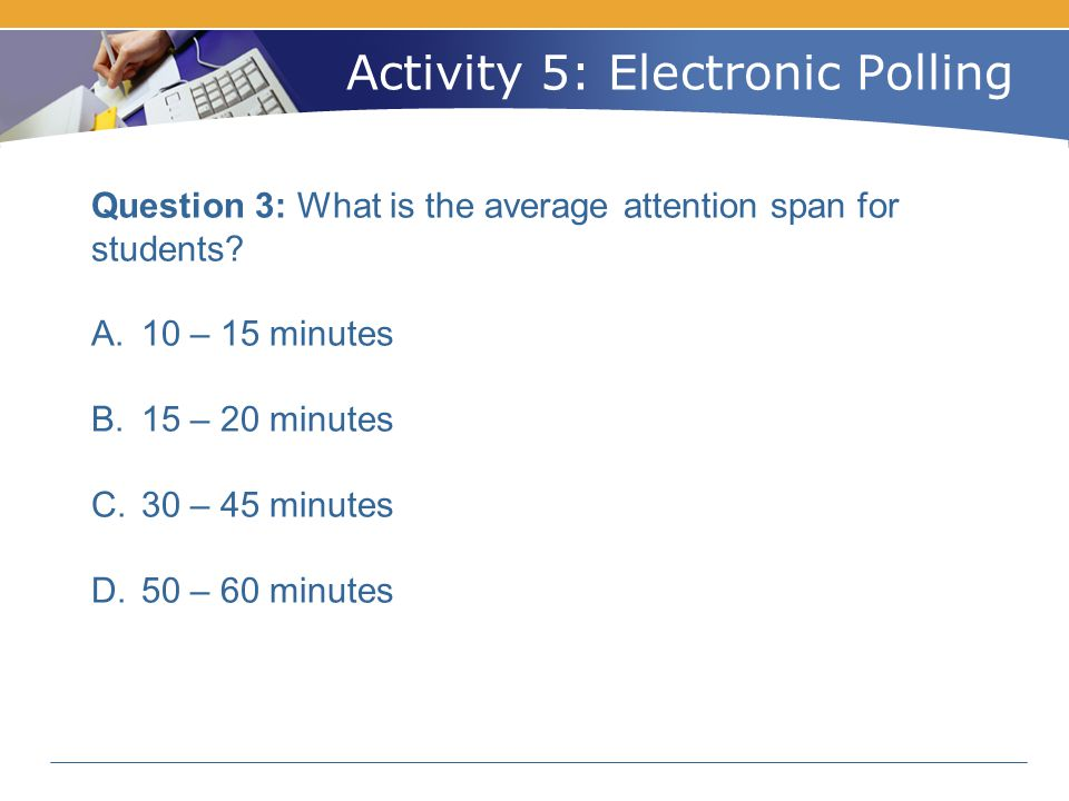 Activity 5: Electronic Polling