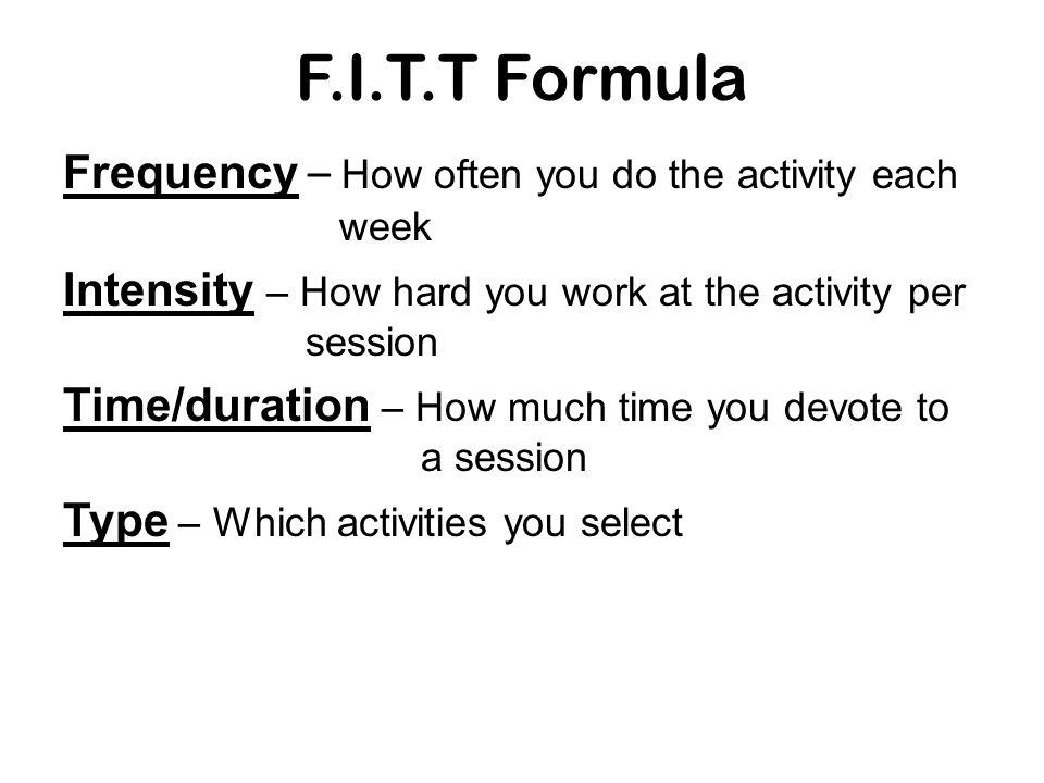 F.I.T.T Formula
