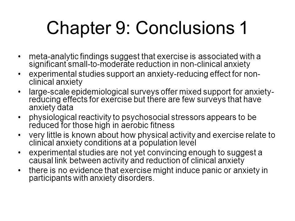 Chapter 9: Conclusions 1