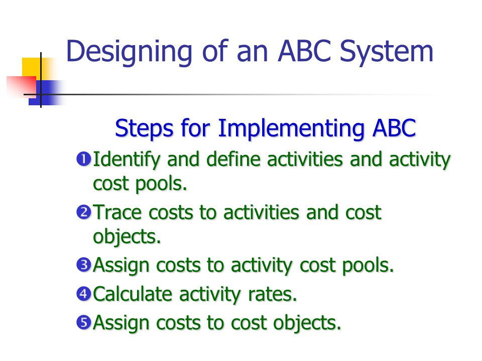 Designing of an ABC System