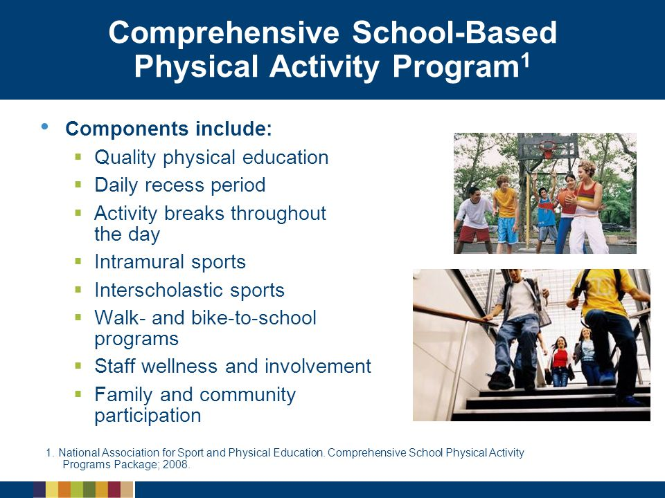 Comprehensive School-Based Physical Activity Program1