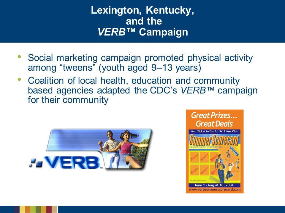 Lexington, Kentucky, and the VERB™ Campaign