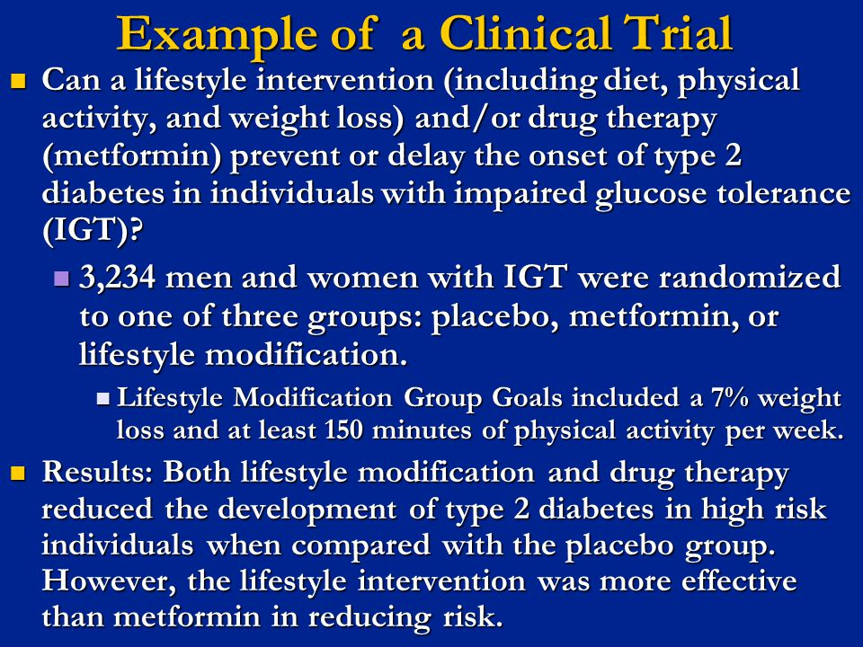 Example of a Clinical Trial
