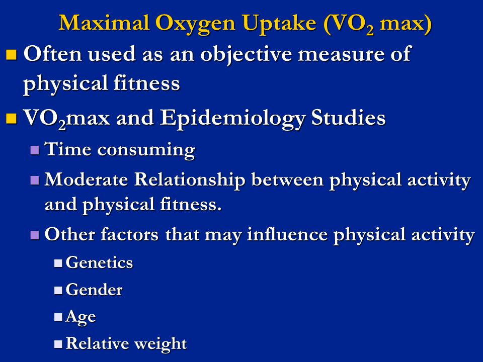 Maximal Oxygen Uptake (VO2 max)