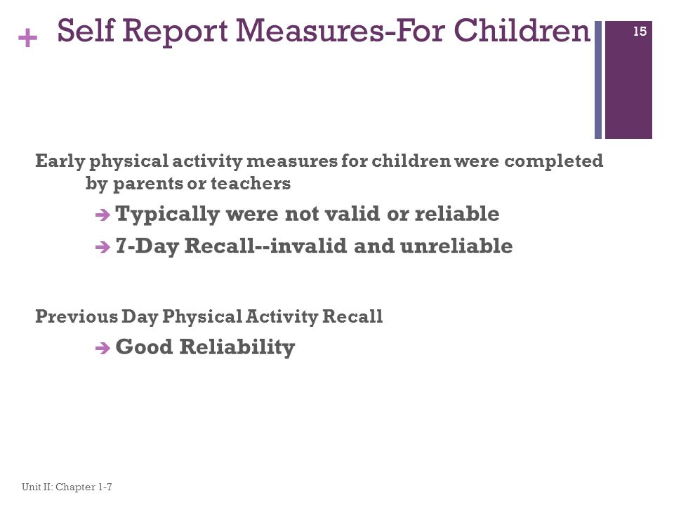 Self Report Measures-For Children