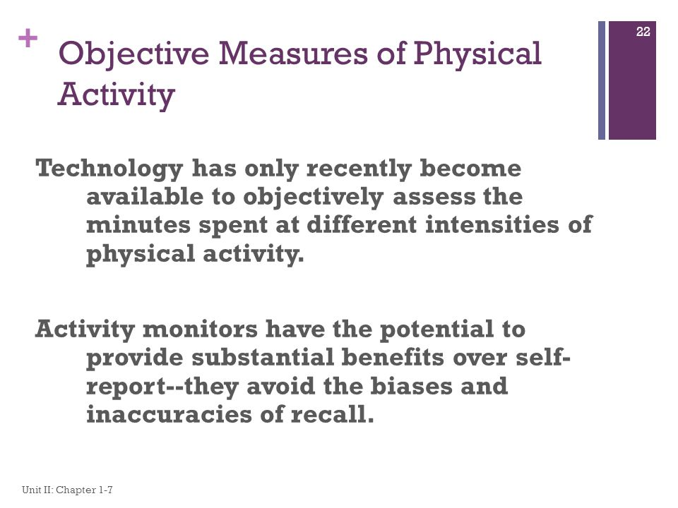 Objective Measures of Physical Activity