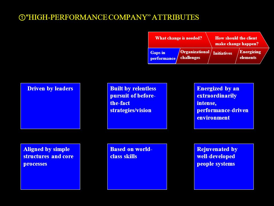 HIGH-PERFORMANCE COMPANY ATTRIBUTES