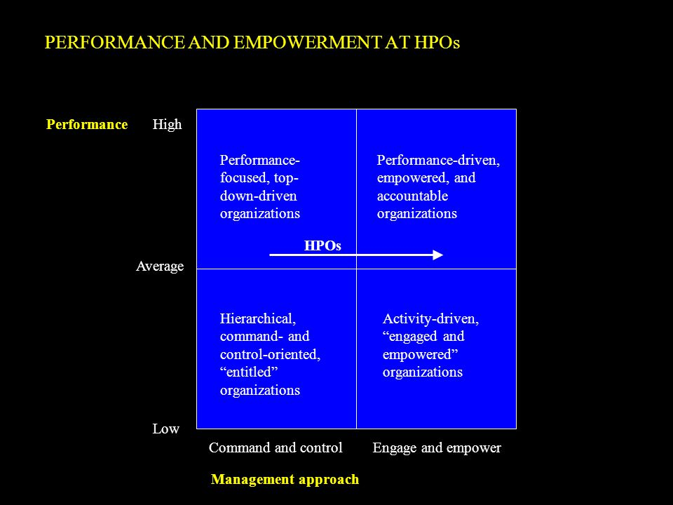 PERFORMANCE AND EMPOWERMENT AT HPOs